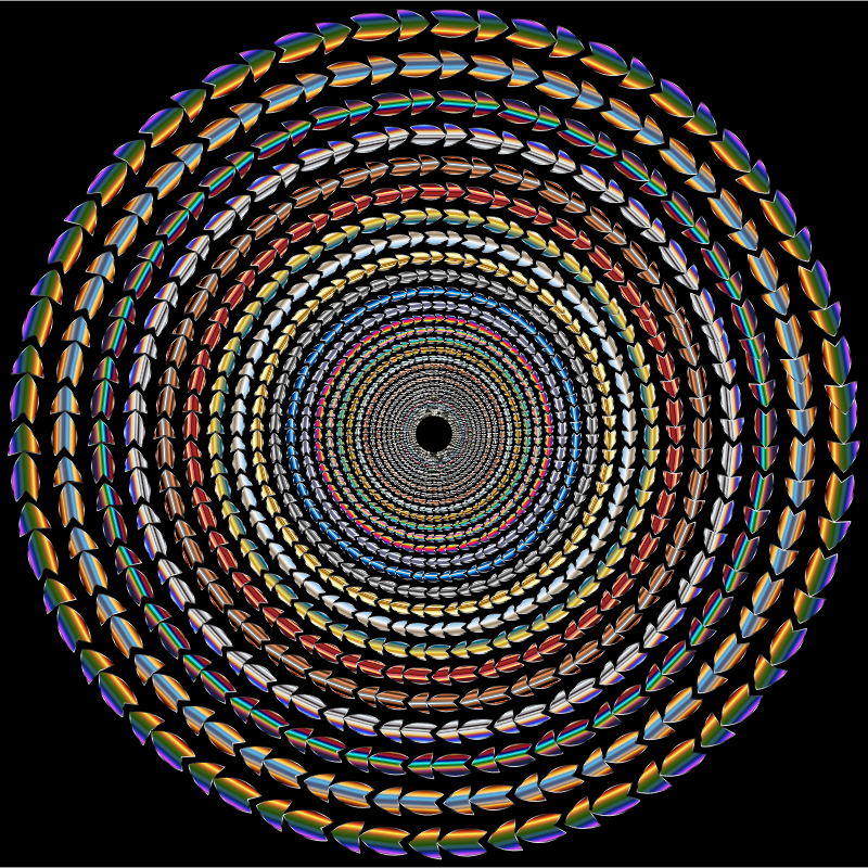 Polychromatic Colorful Direction Circle Vortex Variation 3
