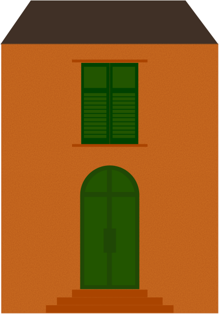 Home- inspired by Italian house facades.