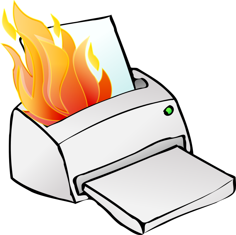 Printer on fire