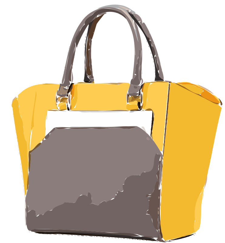 Yellow Tan Leather Leather Bag