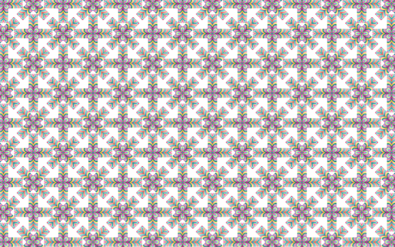 Seamless Prismatic Waves Pattern 4