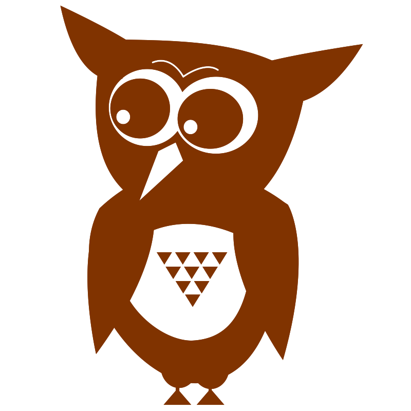 Owl- one color- flat!