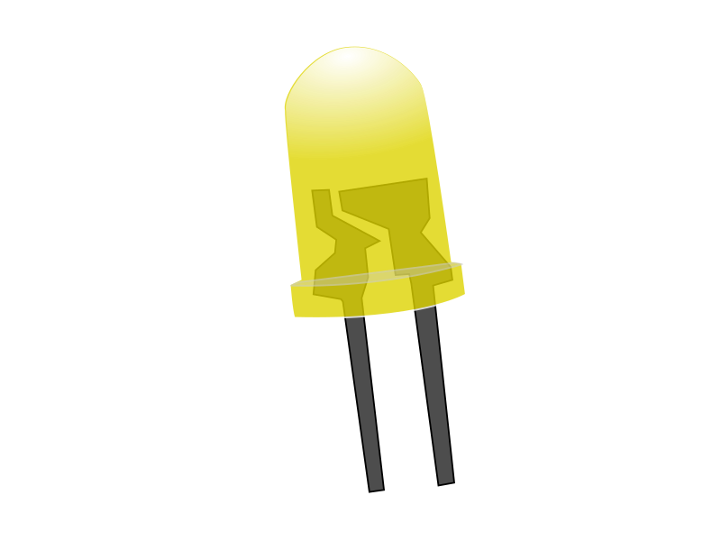 Yellow LED Lamp (Off)