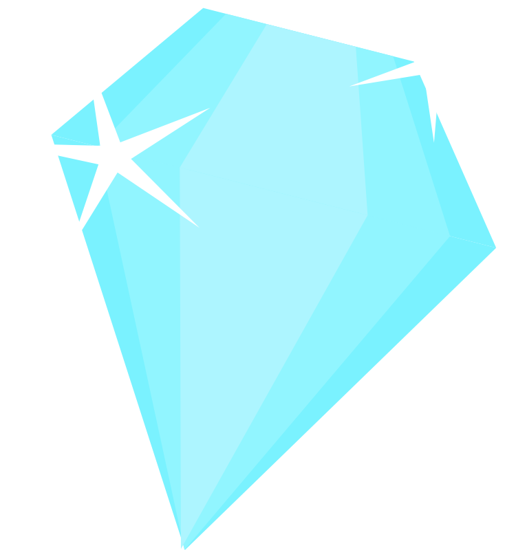 Light blue diamond