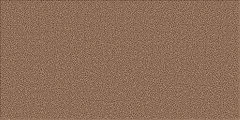 A very big orthogonal maze