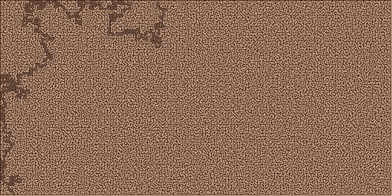 Solution to Very Big Orthogonal Maze