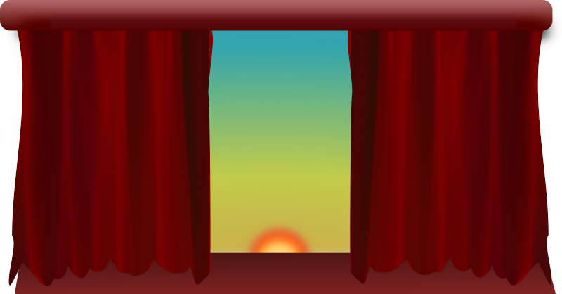 Stage with Filtered Drapes