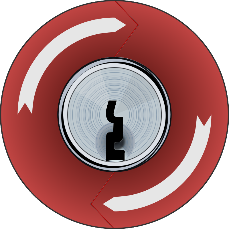 Key Lock E-Stop Push Button
