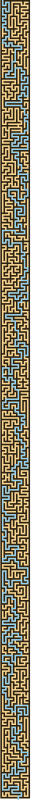 Solution to the Block Version of the Thin Maze