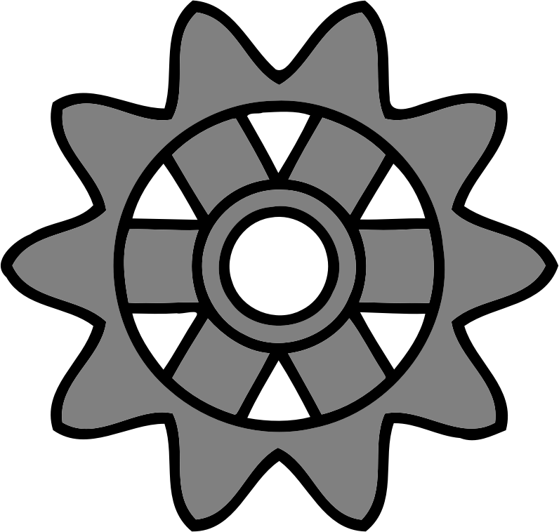 10-tooth gear with rectangular spokes