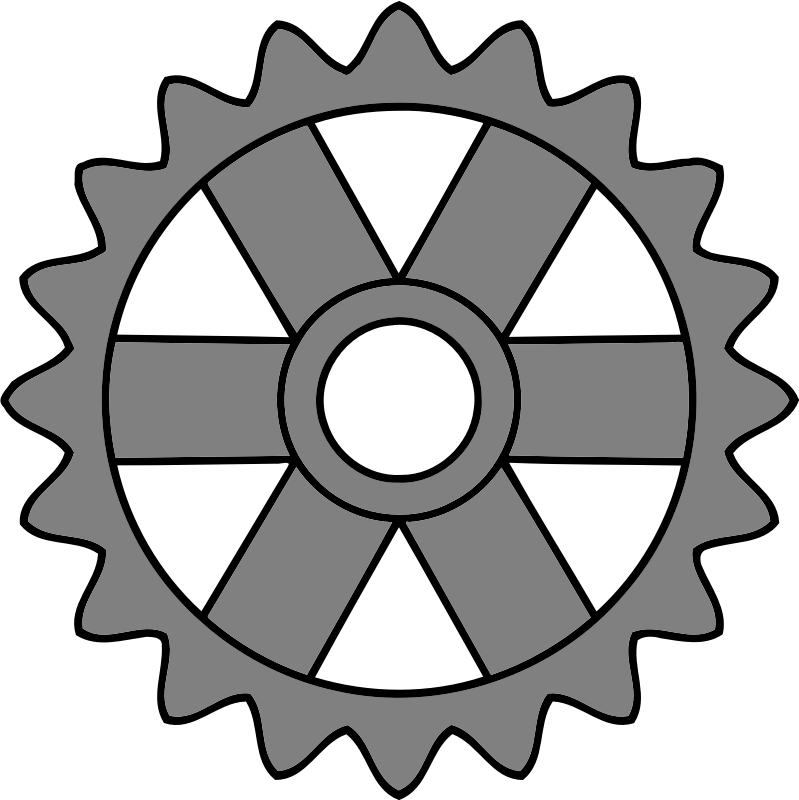 20-tooth gear with rectangular spokes