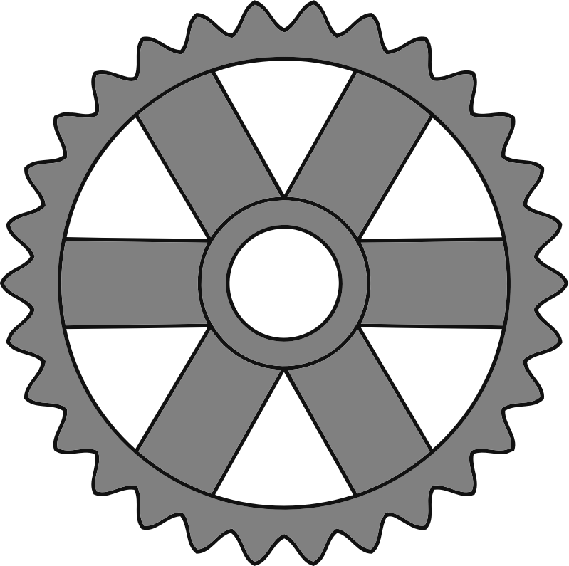 30-tooth gear with rectangular spokes