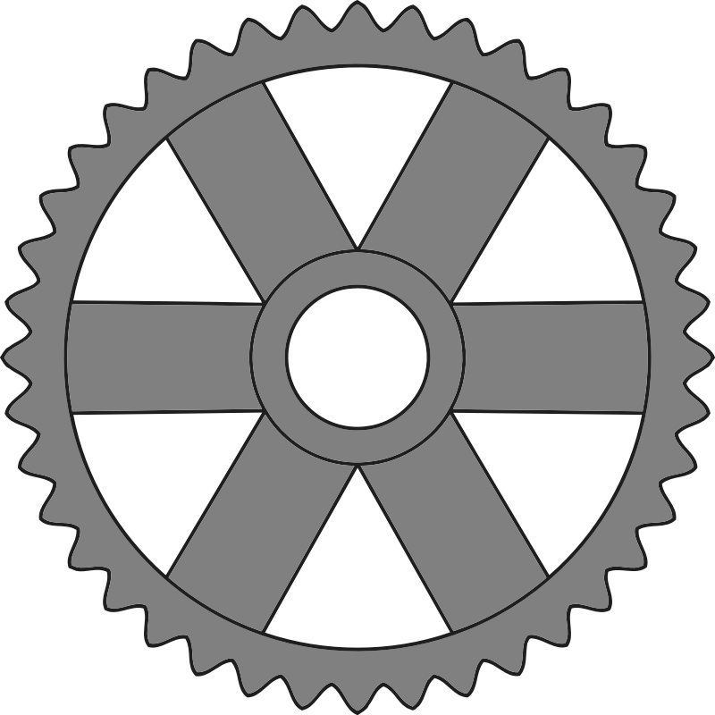 40-tooth gear with rectangular spokes
