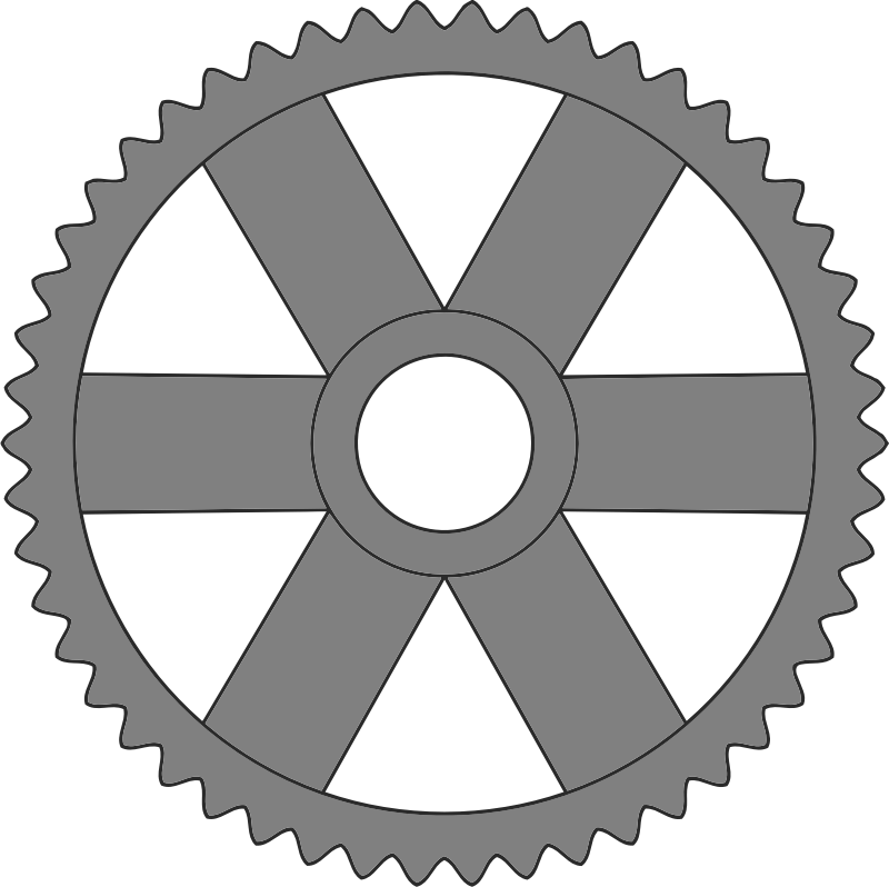 50-tooth gear with rectangular spokes
