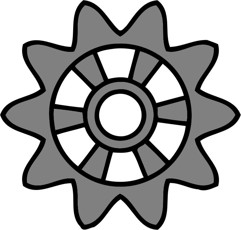 10-tooth gear with radial spokes