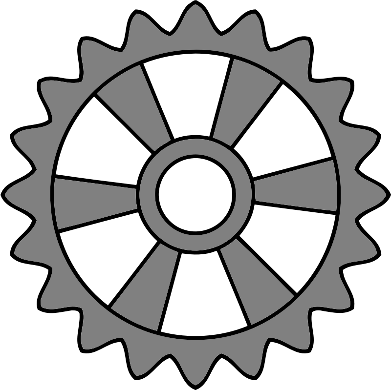 20-tooth gear with radial spokes
