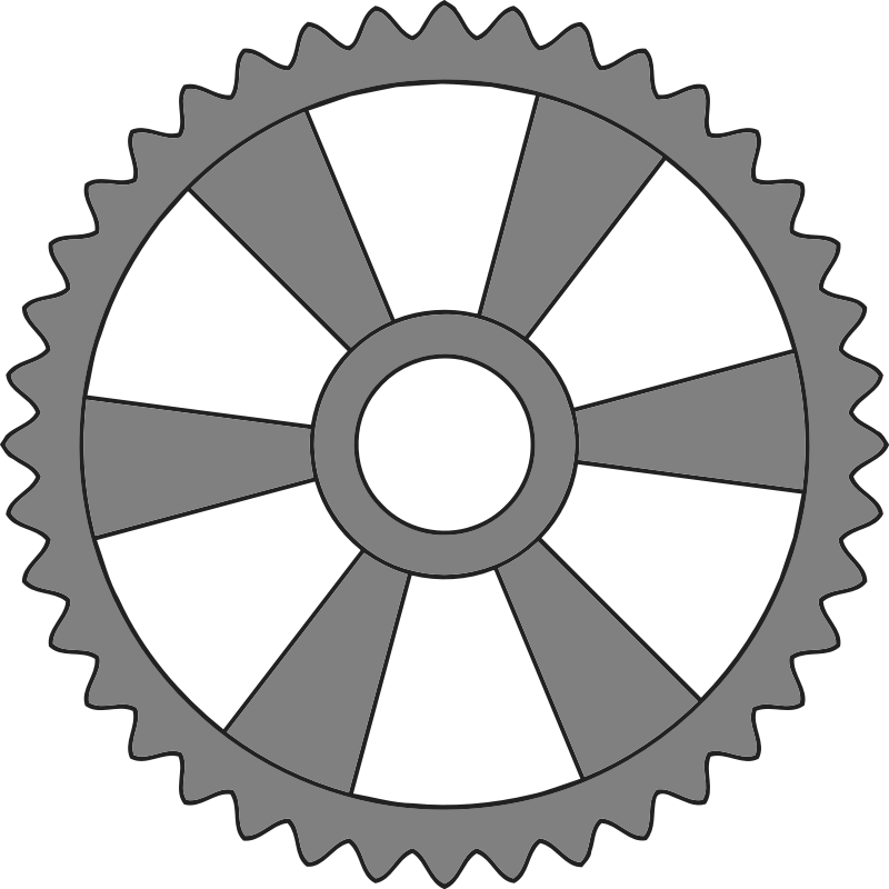 40-tooth gear with radial spokes