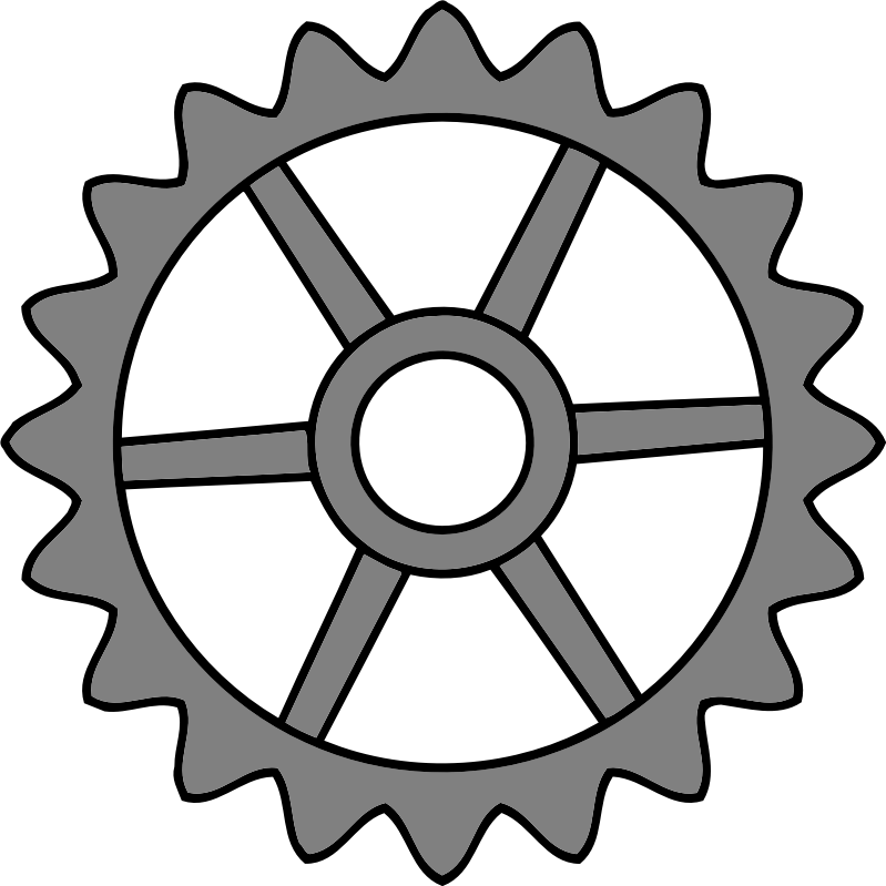 20-tooth gear with trapezium holes