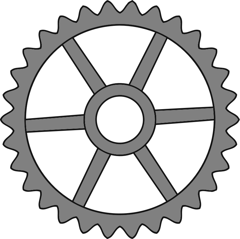 30-tooth gear with trapezium holes