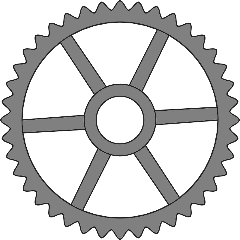 40-tooth gear with trapezium holes