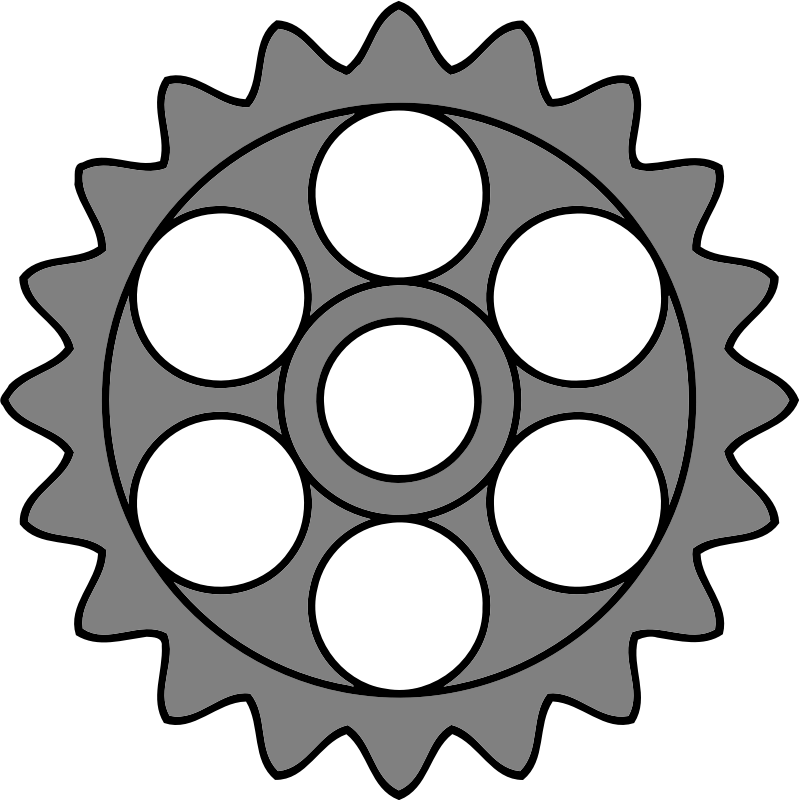 20-tooth gear with circular holes