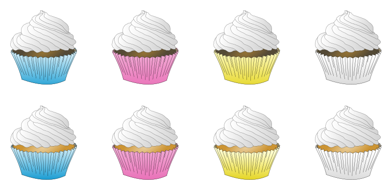 Assorted White Frosted Cupcakes