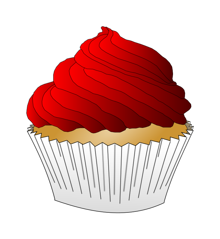Red Frosting Cupcake