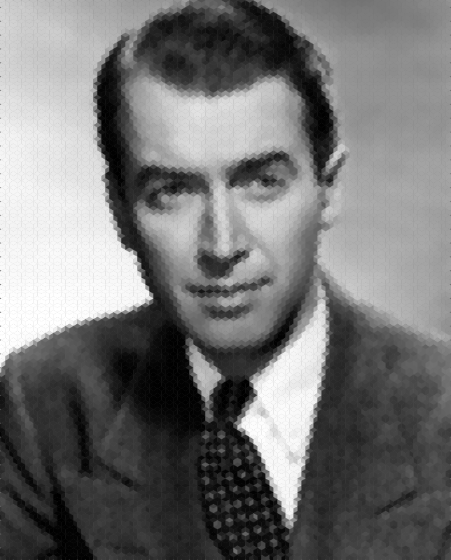 James Stewart Mosaic Portrait