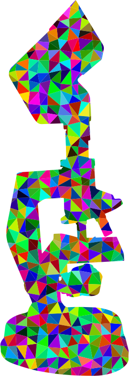Low Poly Prismatic Microscope Silhouette