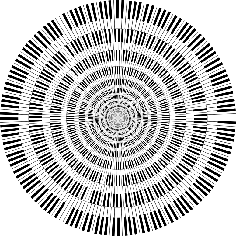 Piano Keys Circle Vortex
