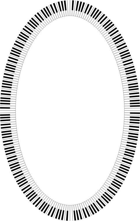 Piano Keys Ellipse