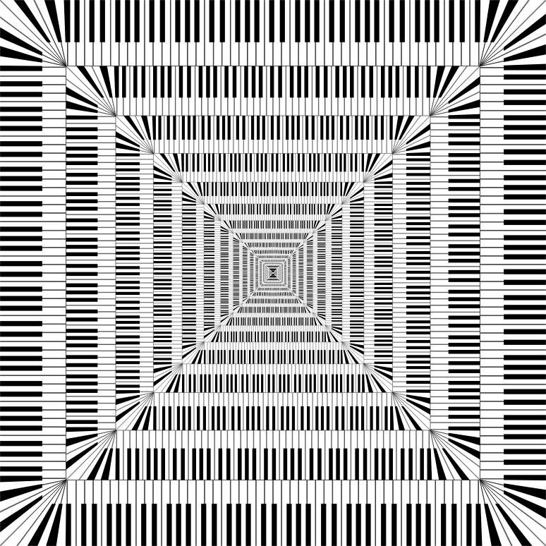 Piano Keys Square Vortex