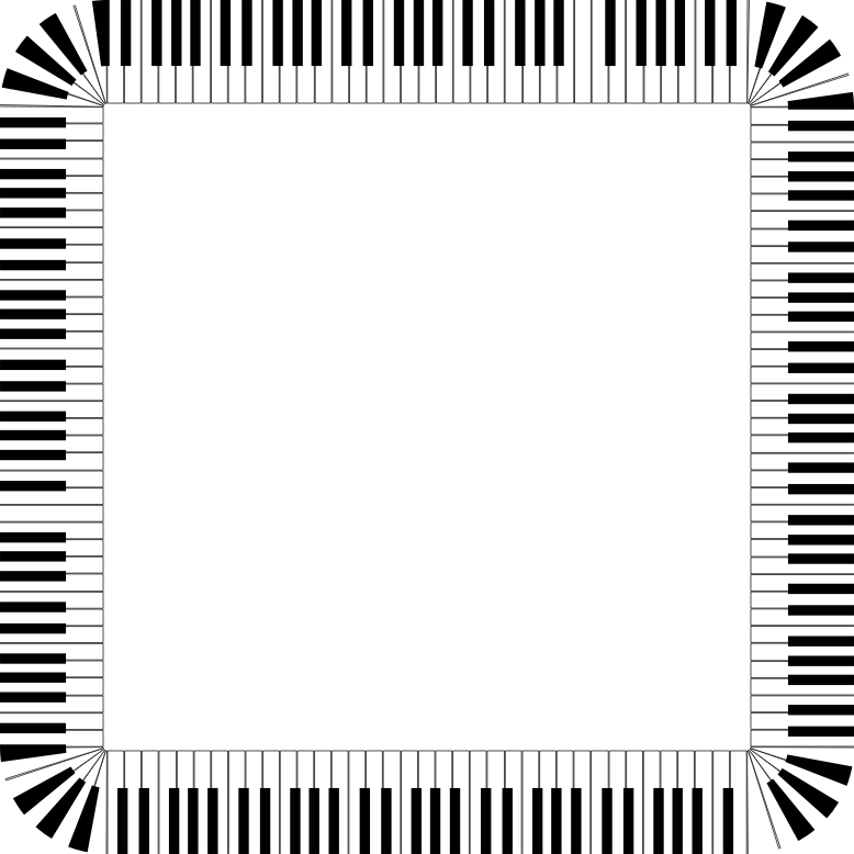 Piano Keys Rounded Square