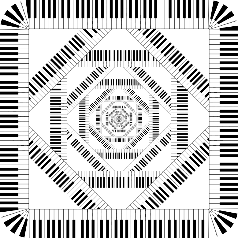 Piano Keys Rounded Square Vortex