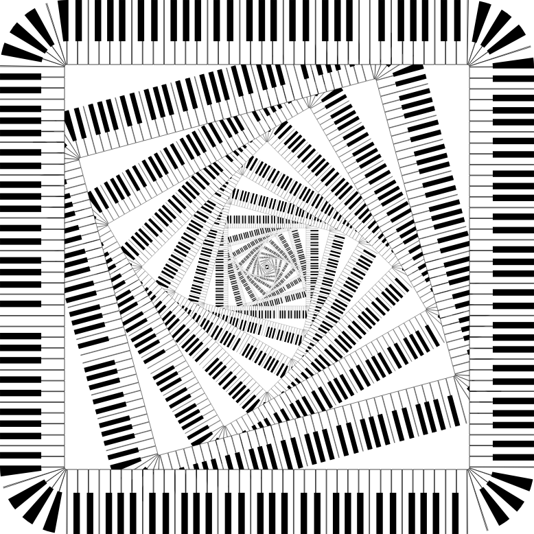 Piano Keys Rounded Square Vortex 2