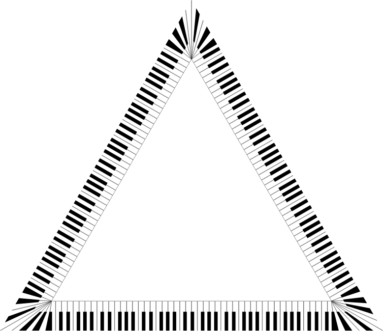 Piano Keys Triangle