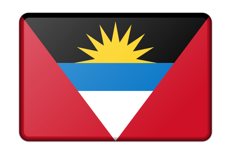 Antigua and Barbuda flag (bevelled)