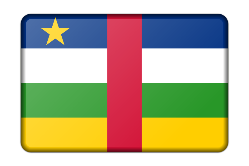 Central African Republic flag (bevelled)