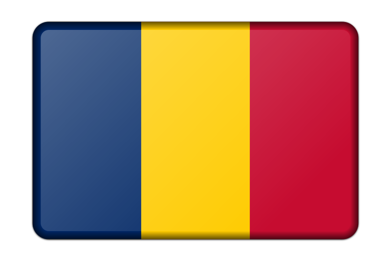 Chad flag (bevelled)