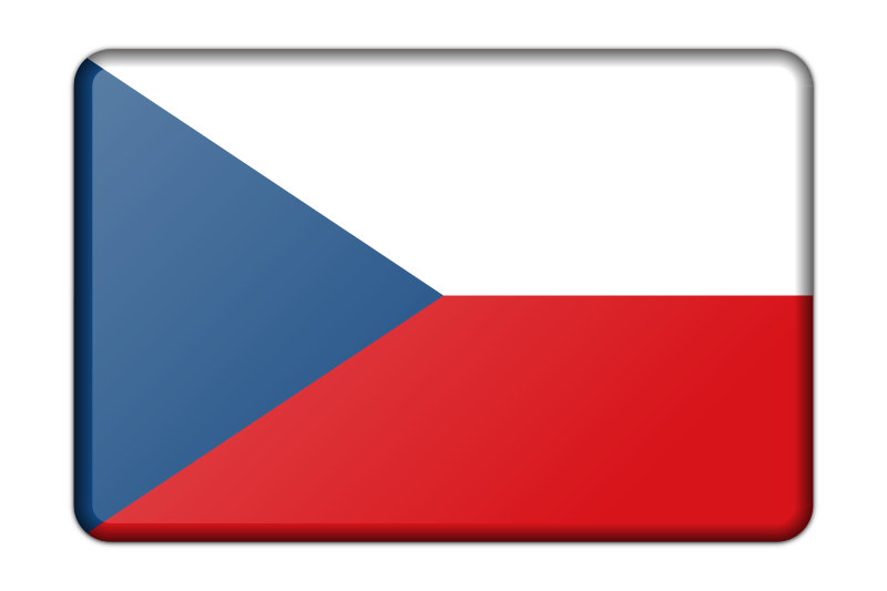Czech Republic flag (bevelled)