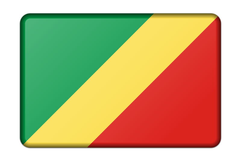 Republic of the Congo flag (bevelled)
