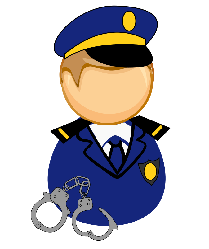 First responder icon - policeman