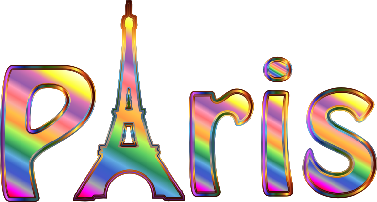 Prismatic Paris Typography No Background