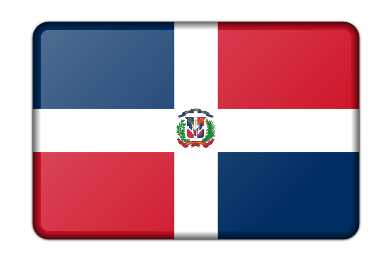 Dominican Republic flag (bevelled)