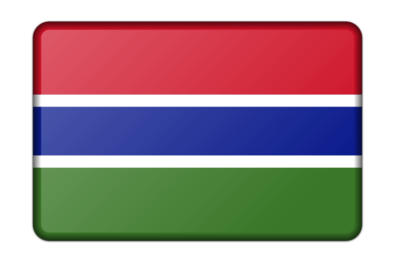 Gambia flag (bevelled)