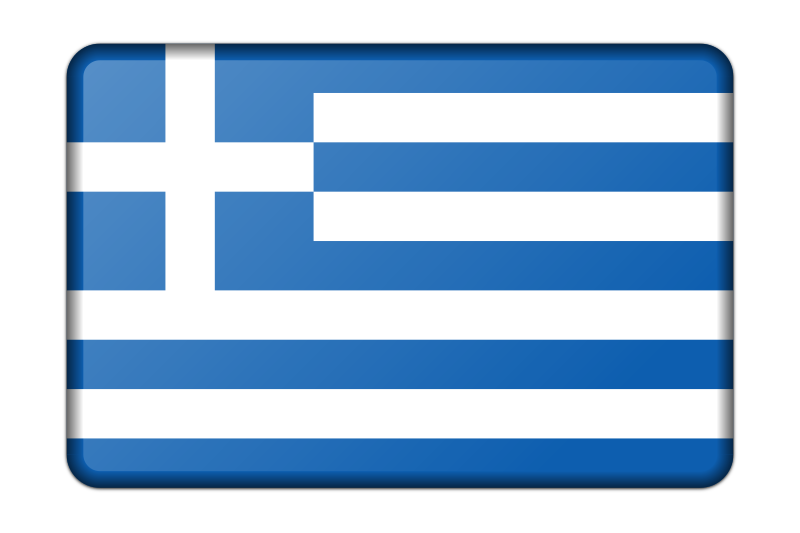 Greece flag (bevelled)