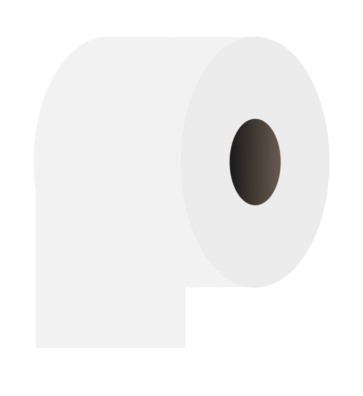 Toilet paper roll white