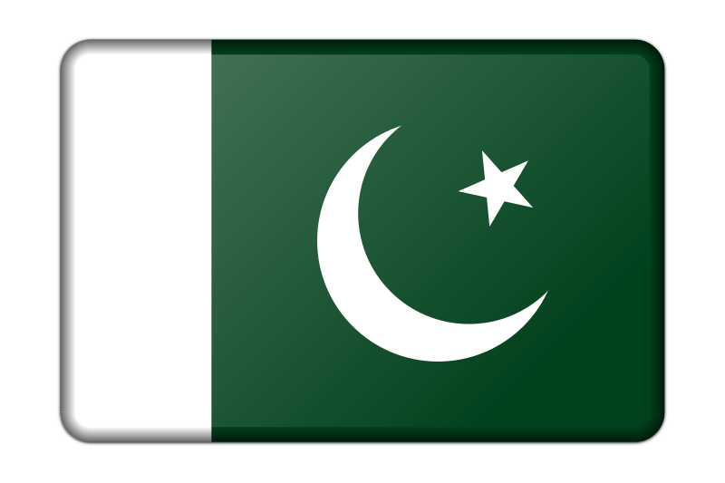 Pakistan flag (bevelled)