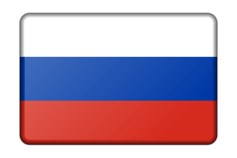 Russia flag (bevelled)
