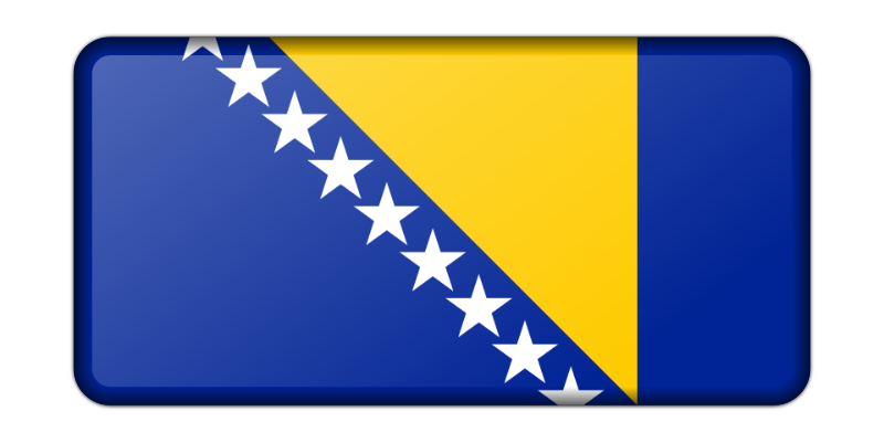Flag of Bosnia Herzegovina (bevelled)